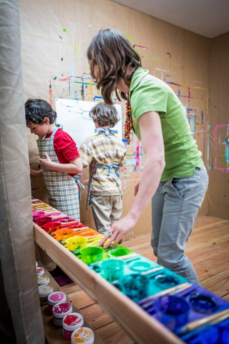 Atelier du Sardier, enfants espace peinture 3, Arnaud FRICH