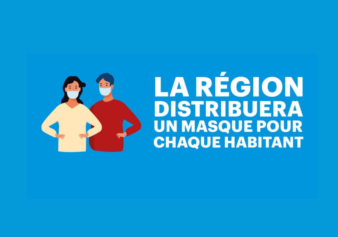 Covid-19 : La Région fournira un masque à tous ses habitants